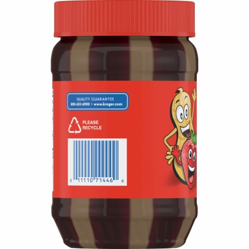 Kroger® Yipes Stripes Strawberry Jelly & Creamy Peanut Butter Perspective: left