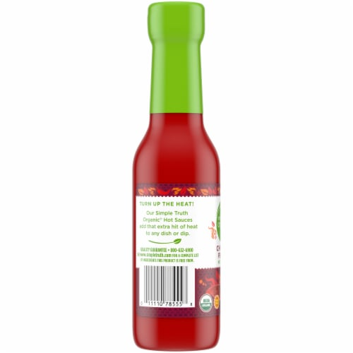 Simple Truth Organic® Smoky Chipotle Pepper Hot Sauce Perspective: left