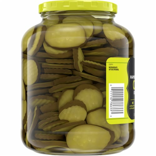 Kroger® Oval Cut Hamburger Dill Pickle Chips Perspective: left