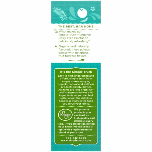 Simple Truth Organic™ Dairy-Free Coconut Paletas Fruit Bars Perspective: left