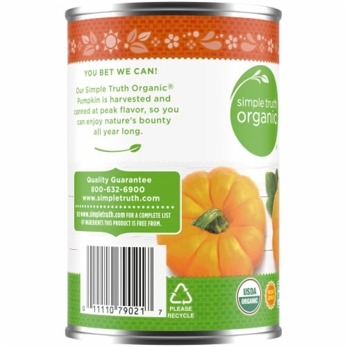 Simple Truth Organic® Solid Packed 100% Pure Pumpkin Perspective: left