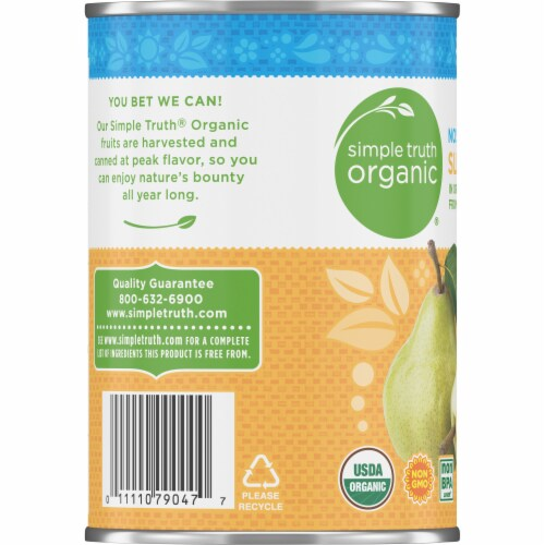 Simple Truth Organic® No Sugar Added Sliced Pears Perspective: left