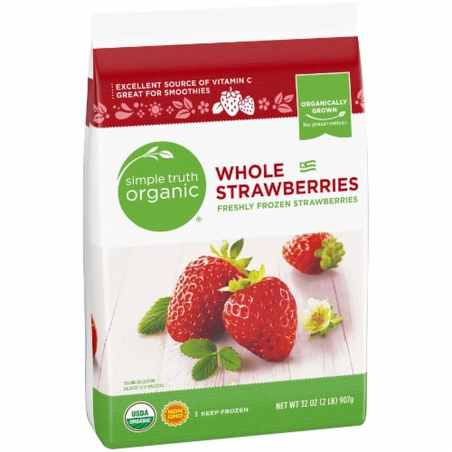 Simple Truth Organic® Frozen Whole Strawberries Perspective: left