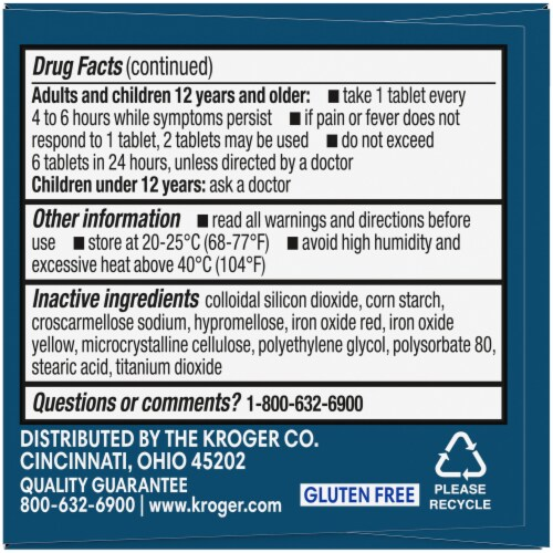 Kroger® Ibuprofen 200 mg Coated Tablets Perspective: left
