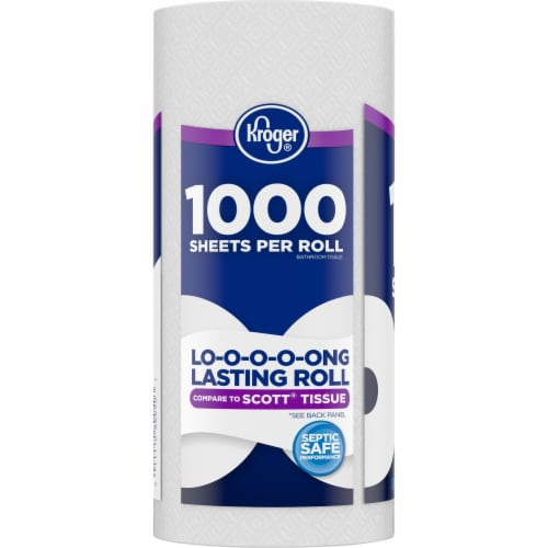 Kroger®  Long Lasting Bath Tissue Perspective: left