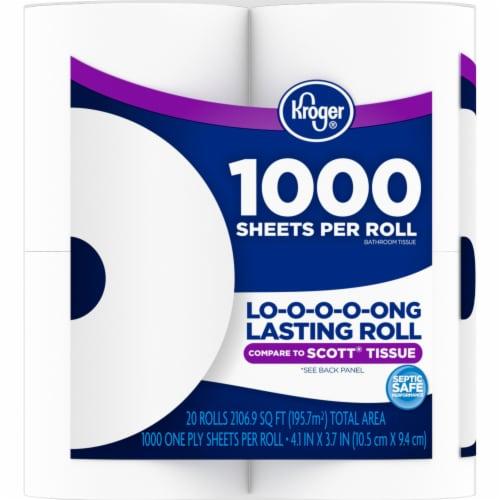 Kroger® 1000 Sheets Per Roll Bath Tissue Perspective: left