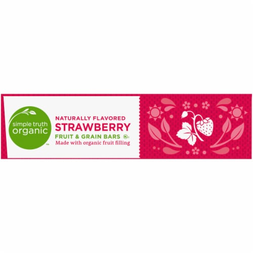 Simple Truth Organic™ Strawberry Fruit and Grain Bars 6 Count Perspective: left
