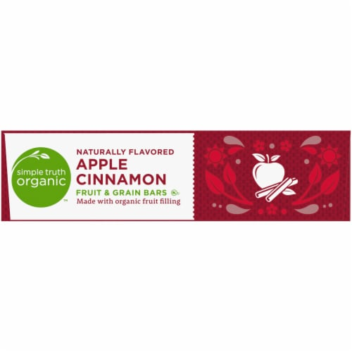 Simple Truth Organic™ Apple Cinnamon Fruit and Grain Bars 6 Count Perspective: left