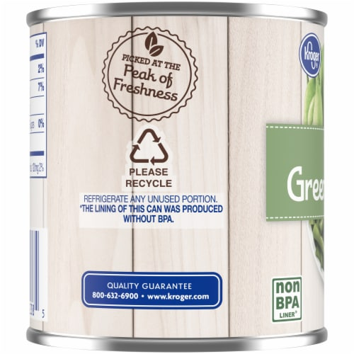 Kroger® No Salt Added Cut Green Beans Perspective: left