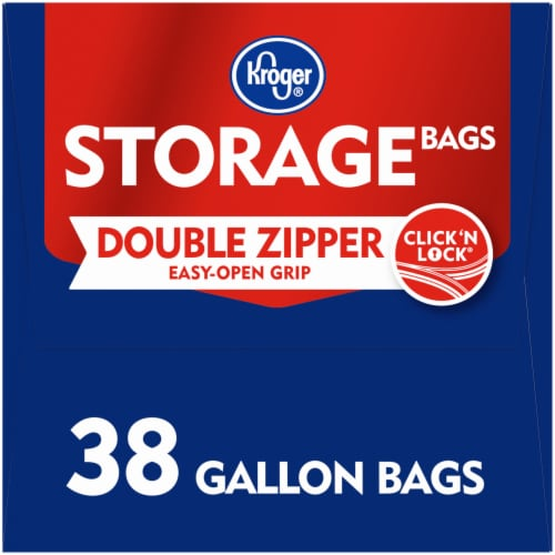 Kroger® Double Zipper Gallon Storage Bags Perspective: left