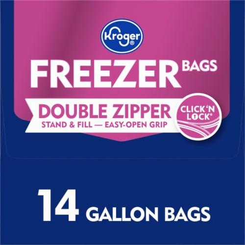 Kroger® Double Zipper Gallon Freezer Bags Perspective: left