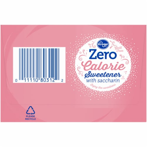 Kroger® Zero Calorie Sweetener with Saccharin Packets Perspective: left