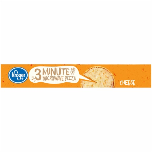 Kroger 3 Minute Microwave Cheese Pizza Perspective: left