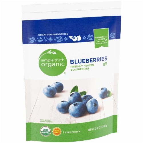 Simple Truth Organic™ Frozen Blueberries Perspective: left