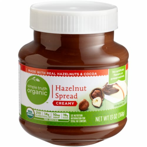 Simple Truth Organic™ Creamy Chocolate Hazelnut Spread Perspective: left