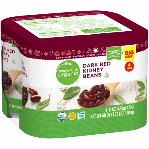 Simple Truth Organic® Dark Red Kidney Beans Perspective: left