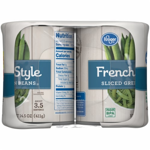Kroger French Style Sliced Green Beans Perspective: left