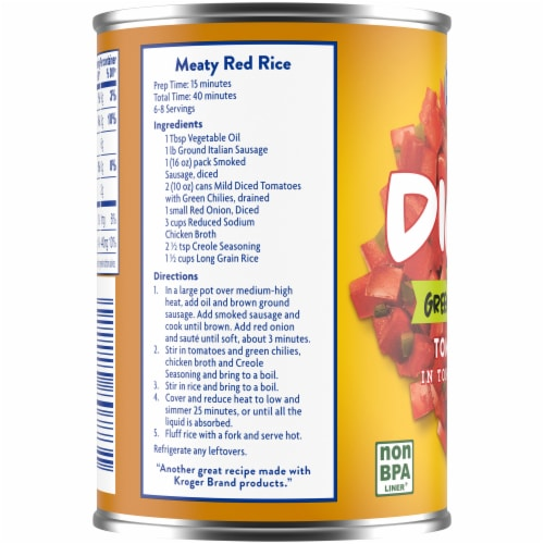Kroger® Mild Diced Tomatoes with Green Chilies Perspective: left