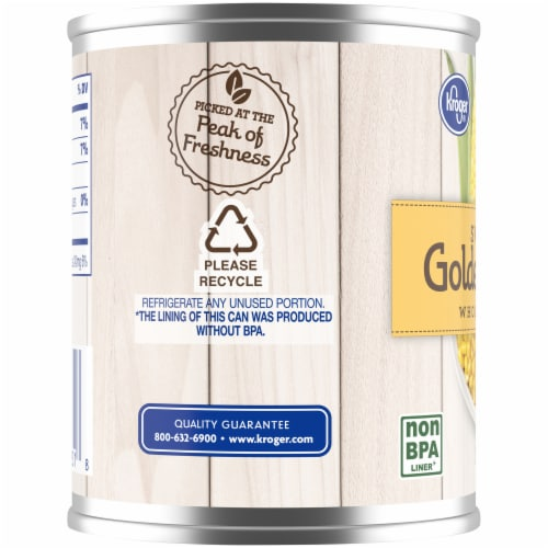 Kroger® No Salt Added Whole Kernel Sweet Golden Corn Perspective: left