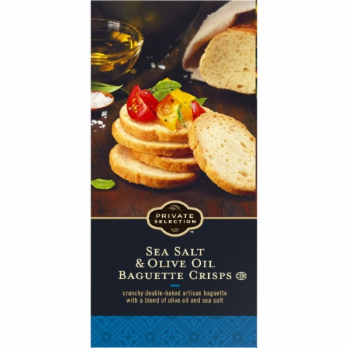 Private Selection™ Sea Salt & Olive Oil Baguette Crisps Perspective: left