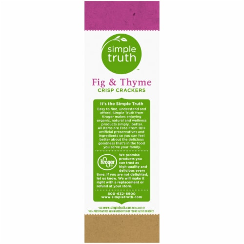 Simple Truth™ Fig & Thyme Crisp Crackers Perspective: left