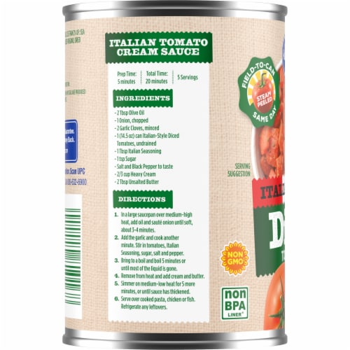 Kroger® Italian Style Diced Tomatoes Perspective: left
