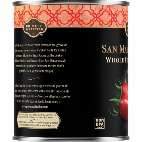 Private Selection™ San Marzano Peeled Whole Plum Tomatoes with Basil Perspective: left