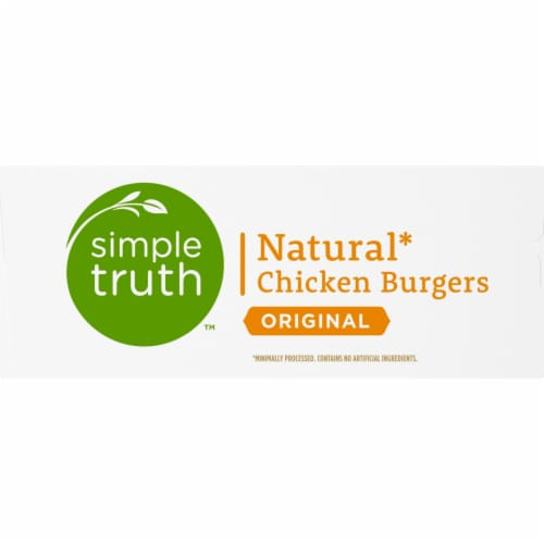 Simple Truth™ Original Natural Chicken Burgers Perspective: left