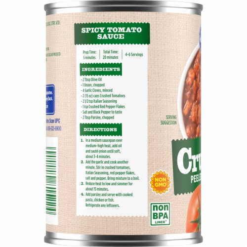 Kroger® Crushed Peeled Tomatoes in Tomato Puree Perspective: left