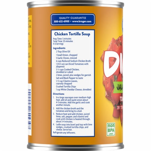 Kroger® Diced Tomatoes with Jalapenos Perspective: left