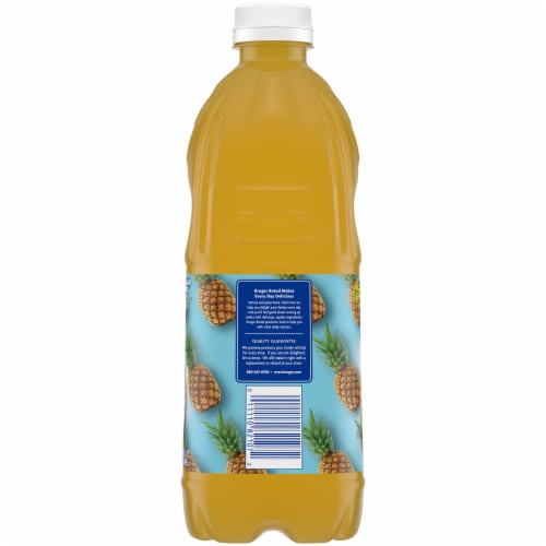 Kroger No Sugar Added 100% Pineapple Juice Perspective: left