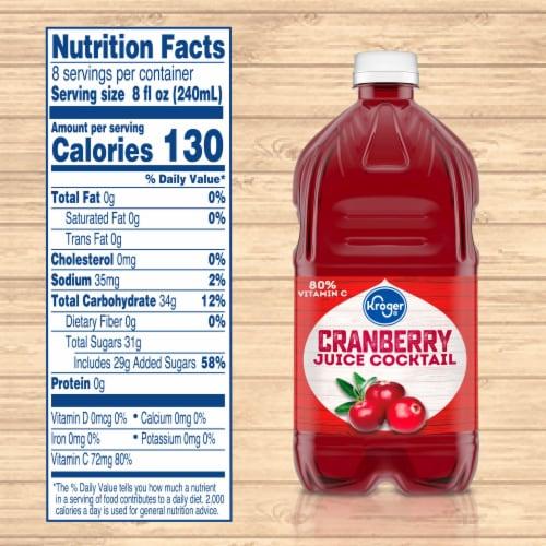 Kroger® Cranberry Juice Cocktail Perspective: left