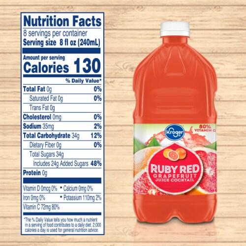 Kroger® Ruby Red Grapefruit Juice Cocktail Perspective: left