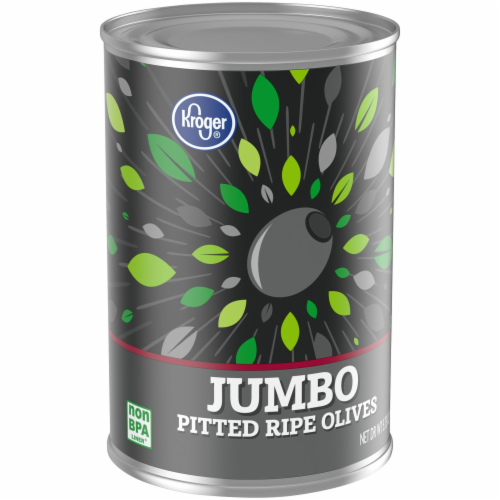 Kroger® Jumbo Pitted Ripe Olives Perspective: left