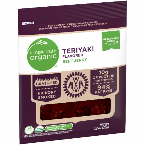 Simple Truth Organic® Teriyaki Flavored Beef Jerky Perspective: left