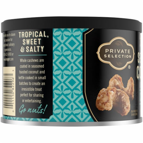 Private Selection™ Kettle Cooked Sea Salt Coconut Cashews Perspective: left