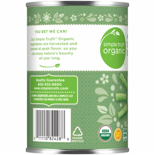 Simple Truth Organic™ No Salt Added Cut Green Beans Perspective: left