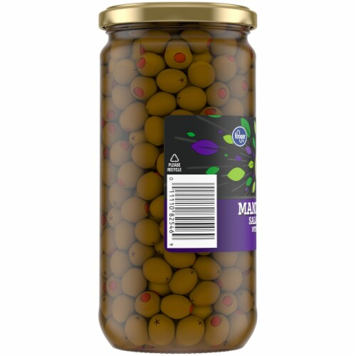 Kroger® Manzanilla Salad Olives with Pimiento Perspective: left