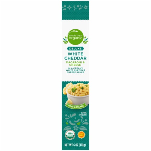 Simple Truth Organic® Thick & Creamy Deluxe White Cheddar Macaroni & Cheese Perspective: left