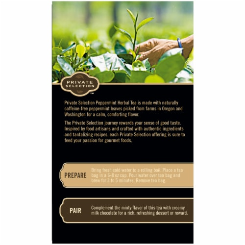 Private Selection™ Peppermint Herbal Tea Bags Perspective: left