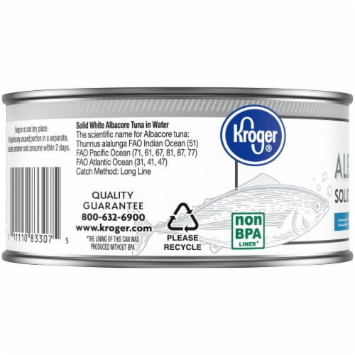 Kroger® Solid White Wild Caught Albacore Tuna in Water Perspective: left