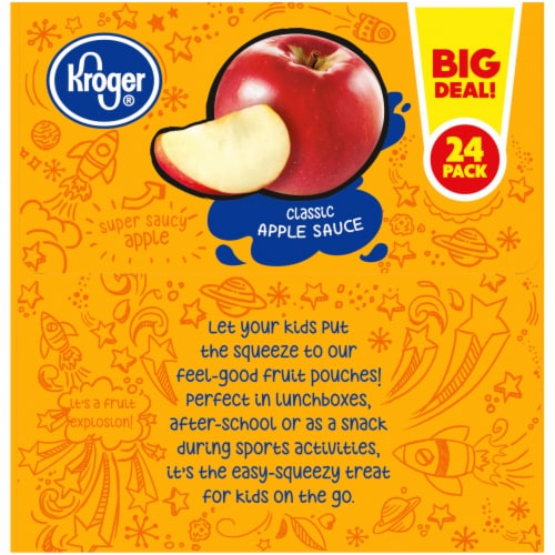 Kroger® Classic Apple Sauce Pouches 24 Count Perspective: left
