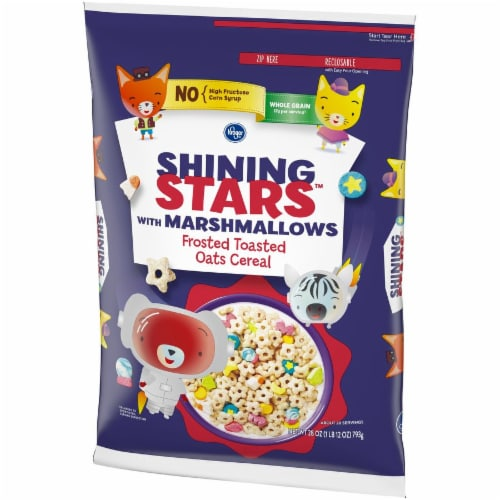 Kroger® Shining Stars with Marshmallows Frosted Toasted Oats Cereal Perspective: left