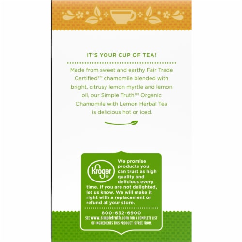 Simple Truth Organic™ Chamomile with Lemon Herbal Tea Bags Perspective: left
