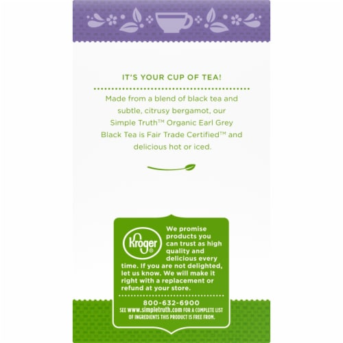 Simple Truth Organic™ Earl Grey Black Tea Bags Perspective: left