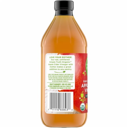 Simple Truth Organic™ Raw Unfiltered Apple Cider Vinegar with Mother Perspective: left