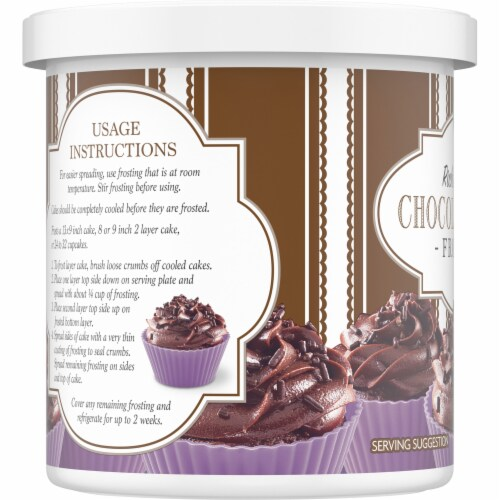 Kroger®  Rich & Creamy Chocolate Fudge Frosting Perspective: left