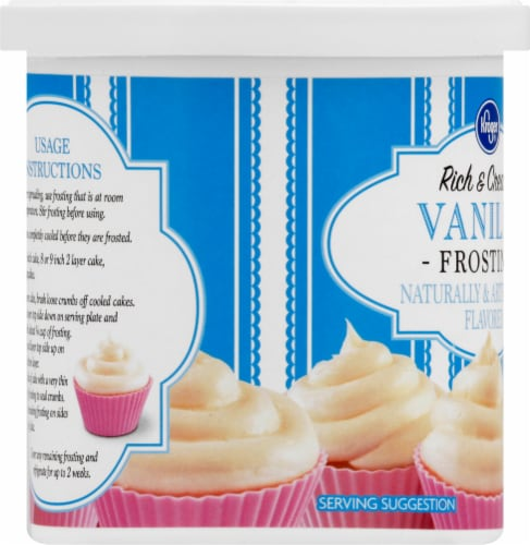 Kroger®  Rich & Creamy Vanilla Frosting Tub Perspective: left