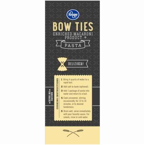 Kroger® Bow Ties Pasta Box Perspective: left