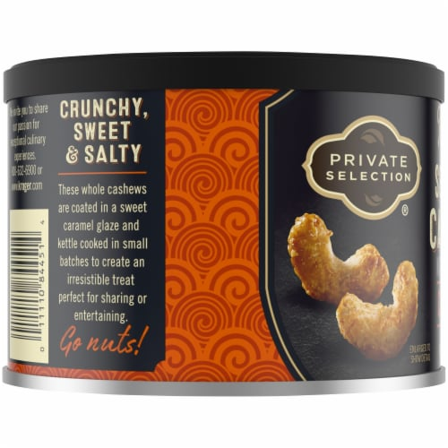 Private Selection® Kettle Cooked Sea Salt Caramel Cashews Perspective: left